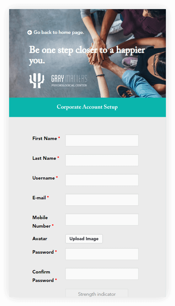 Corp acct mobile - GrayMatters