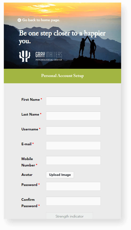 Personal Account Setup copy - GrayMatters