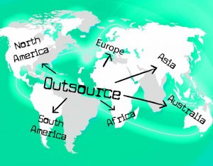 Different continents where you can outsource graphic design.