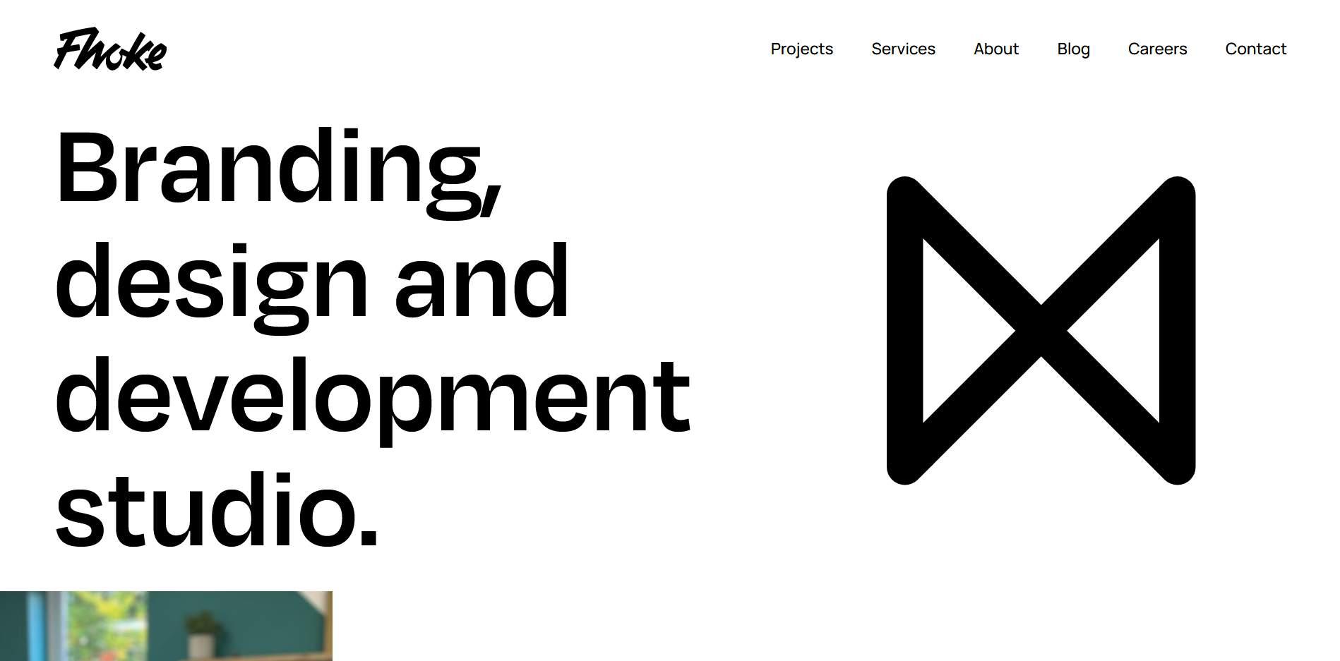Fhoke's website homepage.