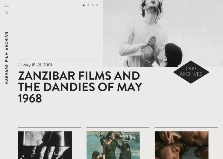 Harvard Film Archive shows a variety of films in their website.