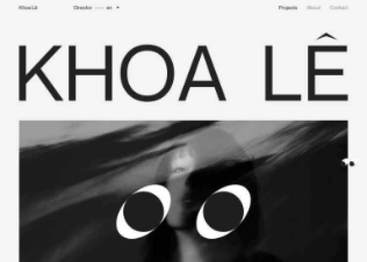 Homepage of Khoa L, a site showing background video.