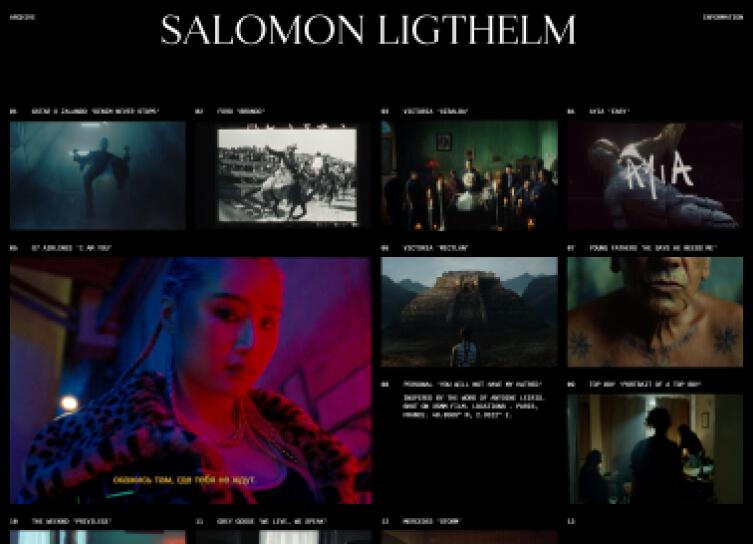 Salomon Lighthelm's video portfolio website.