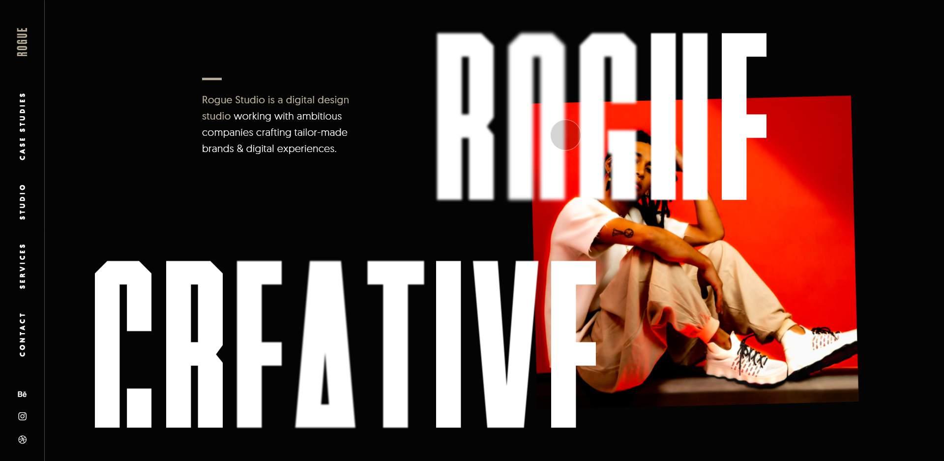 Rogue Studio's website homepage.