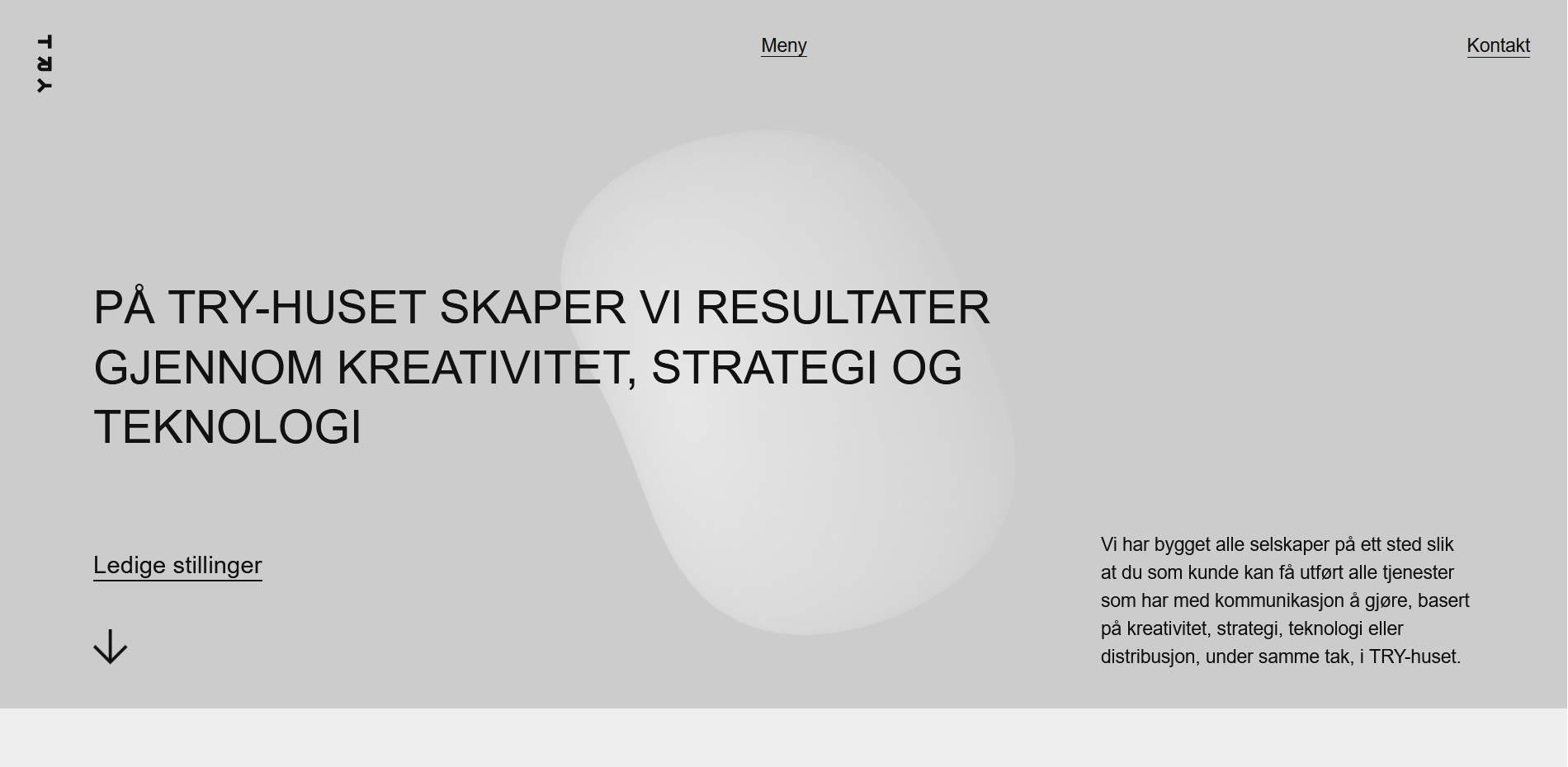 TRY Apt website homepage with Norwegian text.