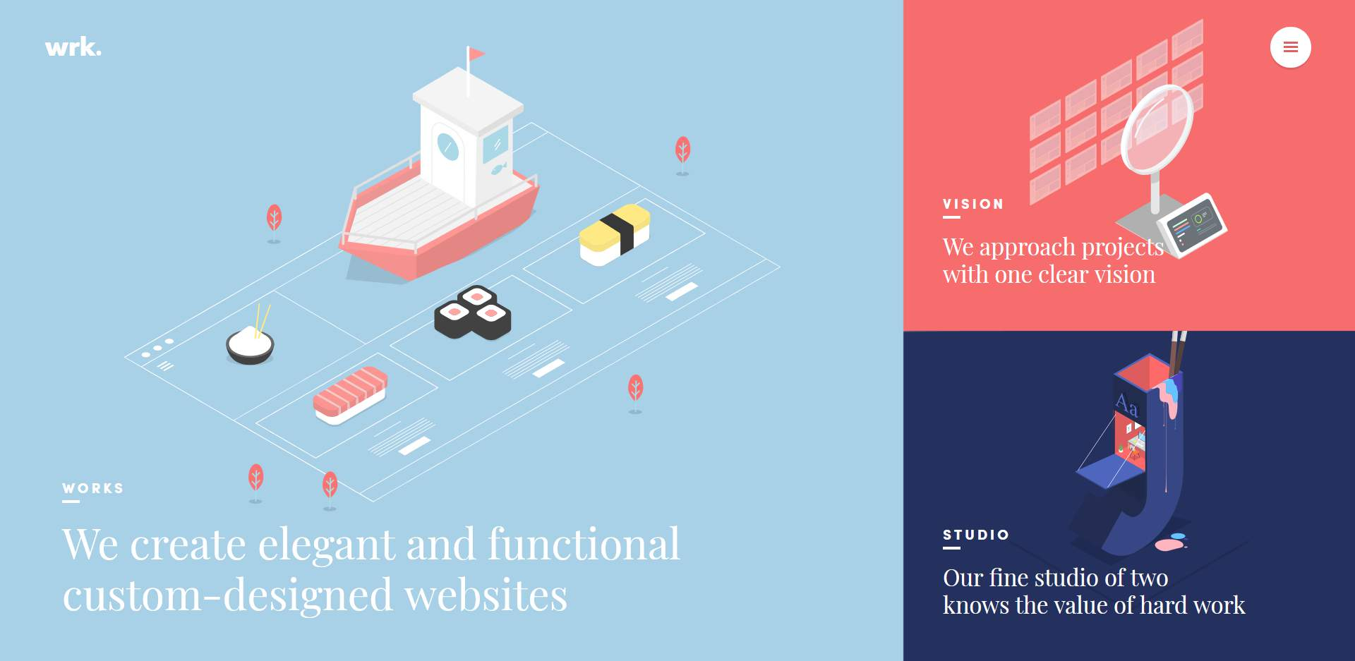Website of Waaark, a web design agency.