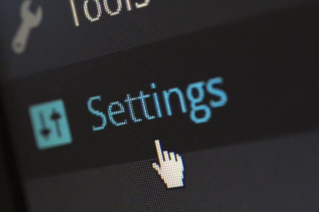 Picture of the Settings button in the WordPress dashboard that a growth hacker uses to apply growth hacking techniques.